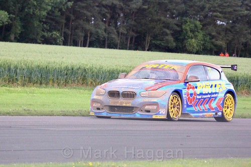 Andrew Jordan in action during the BTCC weekend at Croft, June 2017
