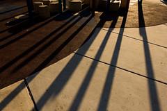 Long shadows (dharder9475) Tags: 2017 cement evening gloaming longshadows lookingdown park privpublic shadows sunset warm