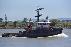 Highsea Guardian (D70) Tags: highsea guardian heading downstream south arm fraser river tug nikon d750 2803000 mm f3556 2803000mm gilmore richmond britishcolumbia