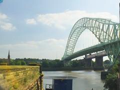 DSCF0688E Silver Jubilee Bridge, Widnes (Anand Leo) Tags: silverjubileebridge rivermersey allsaintschurch runcorn