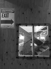 Window to improvement (Robin Penrose - running the roads - it's fall ...) Tags: 201706 iphone 7daysofshooting week48 openings blackandwhitewednesday mono