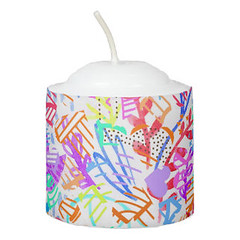 Cute colorful abstract flowers patterns Candle (Forart Gift) Tags: cute colorful abstract flowers patterns candle bougie vela kerze キャンドル kaars candela lys stearinlys ljus