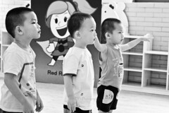 Three Boys Dancing (ArdieBeaPhotography) Tags: preschooler boy girl mother teacher dance costume superhero play story kindergarten toddler