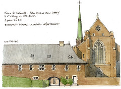 Val-Dieu (gerard michel) Tags: belgium liège valdieu abbaye sketch croquis architecture aquarelle watercolour