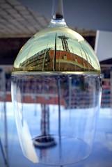 Upside down (rienschrier) Tags: zeeland flusing vine wijn glas spiegeling vlissingen reflexi