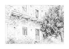 IMA_9302hb Apeiranthos, (foxxyg2) Tags: hk highkey art buildings architecture greece greekislands islandhopping islandlife naxos cyclades apeiranthos mono monochrome bw blackwhite silverefex niksoftware