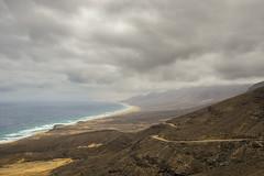 Road to Cofete (michel1276) Tags: fuerteventura cofete jandia spain island coast küste wolken clouds windy stormy beach mountains berge landschaft landscape