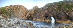 Stair hole (Rob McC) Tags: tideline panorams geology stairhole jurassiccoast caves arches uplift geological landscape seascape coast sea ocean waterfront dorset