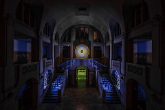 EMD #302 - Entrance Hall at Midnight (blue) (Electrical Movements in the Dark) Tags: lightartperformancephotography lapp electricalmovementsinthedark emd lightart lightpainting lightartphotography longexposure nightphotography