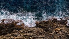 miroir (LinusVanPelt ) Tags: swirl liguria 5terre nature gulf surf foam gdg rocks sea riomaggiore italy it