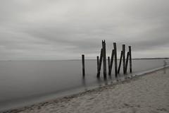 Beach in Orłowo (Hubert J. Farnsworth) Tags: gdynia orlowo poland beach sand pier sea sky