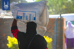 Islamic Relief's food distribution in Zimbabwe during the month of Ramadan.