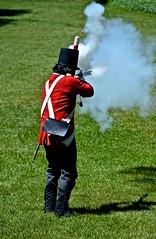 rangers, period uniforms, weapon, firing demonstration, (David McSpadden) Tags: firingdemonstration perioduniforms rangers weapon