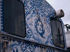 Marilyn : ) (Long Sleeper (busy!)) Tags: museum hetspoorwegmuseum thedutchrailwaymuseum display train painting marilynmonroe utrecht holland thenetherlands lumixg425mmf17asph dmcgx1