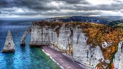 Falaise d'Étretat (Philippe Vieux-Jeanton) Tags: landscape ocean atlantic hdr etretat normandie france coastal explore cliff