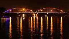 Nightbirds... (sigi-sunshine) Tags: doubled rheinbrücke strasenbahn tram kehl kehlamrhein rhein strasbourg strasburg reflection reflektion spiegelung mirror bogen bow brücke bridge pont