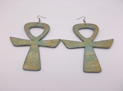 Oxidized Ankh Earrings (leslietaylor9) Tags: oxidize ankh paintedearrings handcraftedjewelry handpaintedearrings handcrafted earrings