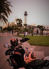 Barcelona sunrise...🌄 (carlesbaeza) Tags: sunrise amanecer matinada adventure adventurerider bigtrail biker dualsportlife dualsport travel motobiker moto motorcycle motorrad yatch xt1200z supertenere barcelona catalunya catalonia xladv ngc