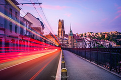Fribourg (Pierre_Cuony_Photographies) Tags: fribourg sunset passion photgraphy 2017 suisse switzerland bluehour pierre