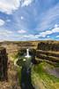 NT3.0091-WP170617_67156 (LDELD) Tags: palouse kahlotus washington palousefallsstatepark sunny clouds river canyon waterfall