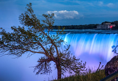 Cinematic times at the Niagara Falls (zilverbat.) Tags: canada waterfront water wallpaper longexposure longexposurebynight colors zilverbat image hotspot canon trees bookcover ontario nature lee travel tripadvisor ngc famous avondfotografie nightshot nightlights nightphotography night lights outdoor landscape urbannature niagarafalls waterfalls twilight bluelight cinematic trip glowinthedark scenic landmark outside power rush rapid vibrant horseshoe edge danger fall flowing dawn foam majestic niagara er