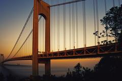 Verrazano-Narrows Bridge (mudpig) Tags: verrazanonarrows statenisland brooklyn nyc newyorkcity sunset hdr hudsonriver