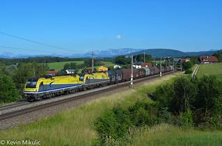 CargoServ 1216 932 + 931 als 61069 Linz Voest Alpine - Tarvisio Boscoverde in Pöndorf (Weststrecke)