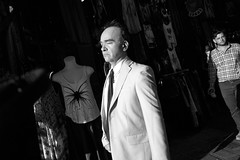 #1 (ChrisRSouthland) Tags: street streetphotography athens leicammonochrom elmarit28mmf28 monastiraki suit man light brightness contrast chic closedeyes