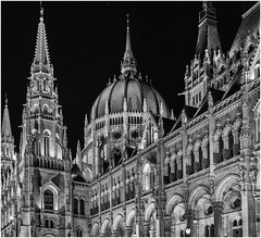Hungarian Parliament at night (Andy J Newman) Tags: hungary night nightphotography silverefex lowlight budapest d500 handheld landscapes nikon parliament hu