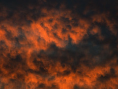 Turbulent Skies (Steve Taylor (Photography)) Tags: orange blue newzealand nz southisland canterbury christchurch northnewbrighton autumn sunset sundown cloud weather