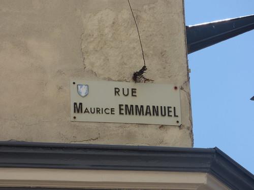 Rue Maurice Emmanuel, Beaune - road sign