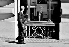 You Looking At Me ? ? (jaykay72.) Tags: london uk street candid streetphotography londonist cornhill stphotographia blackandwhite bw