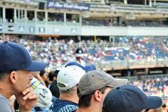 Yankee Hats (KaDeWeGirl) Tags: newyorkcity bronx yankee stadium baseball game americas pastime fourthofjuly crowd
