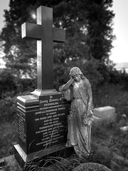 In Loving Memory of Gwendoline. (All I want for Christmas is a Leica) Tags: headstones cemetery graveyard graves monochrome blackwhite churchyard