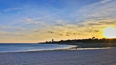 Sunset walk (vintage114) Tags: sunset sea rochelle beach france sony a6000 sigma darktable ocean atlantique
