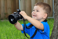 First Photography Lesson (canikon1998) Tags: jaden michael licek child toddler first photography lesson camera sony boy male carrollwood village tampa hillsborough county backyard florida