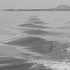 Ionian sea  [ in explore ] (~Ingeborg~) Tags: meinge greece griekenland zakynthos ionischezee ioniansea waves golven kleine small monochrome viewon zichtop berg mountain laganas rhythm ritme water rhythmic ritmisch repeat herhaling kust coast faraway verweg misty nevelig earlymorning vroegeochtend threemenandonewoman driemanneneneenvrouw monochroom silence silenceofthesea