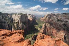 Observation Point, Zion National Park (stochastic-light) Tags: landscape clouds rocks canyon zion zionnationalpark angelslanding observationpoint chipmunk utah nature spring summer hiking trail nikon d810 zeiss carlzeiss zf2 milvus2821 milvus21