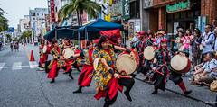 2017 - Japan - Naha Okinawa - Drummers - 18 of 21 (Ted's photos - For Me & You) Tags: 2017 japan nikon nikond750 nikonfx naha tedmcgrath tedsphotos vignetting cropped nahajapan kokusaidori kokusai kokusaistreet drums performers musician musicians streetscene street people peopleandpaths active dancing dancers pylons familymart sign signs drummers drumming crosswalk okinawa okinawajapan dents teeth