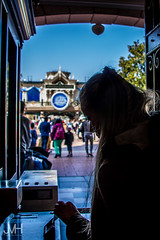 Here you step into the world of yesterday, fantasy and tomorrow (Jojo_VH) Tags: 2017 25thanniversary dlp dlp25 delf disneyphotography disneygirl disneylandparis disneylandparis25 lightroom mainstreetstation april disney entrance magic turnstile france