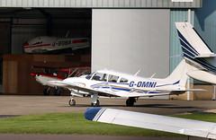 G-OMNI Piper PA-28R-200-2 Cherokee Arrow II, Cotswold Aviation Services Ltd, Gloucestershire Airport, Staverton, Gloucestershire (Kev Slade Too) Tags: gomni piper pa28 cherokeearrow cotswoldaviationservicesltd gbgba robin r2100a superclub gayxu bellanca champion 7kcab egbj gloucestershireairport staverton gloucestershire