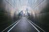 view from the 9/11 memorial (Liberty State Park, NJ) (Steve Stanger) Tags: libertystatepark 911 memorial 911memorial nikond7000 nikon d7000 newjersey newyork manhattan reflection lines converging converginglines