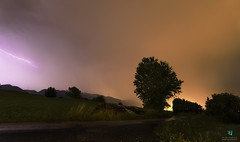 Fulmini e saette ⚡🌀 (Elisa.95) Tags: night tree lightning light fulmini sky clouds storm trentino italy nikon d7000 landscape green capture