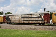 E in Steel (quiet-silence) Tags: graffiti graff freight fr8 train railroad railcar art steel msk autorack roller wholecar conrail ttgx942346