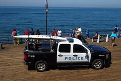 SANTA MONICA POLICE DEPARTMENT - Chevrolet Silverado Hybrid (amiral-vb) Tags: harbor hybrid silverado chevrolet smpd pier surf santamonica police