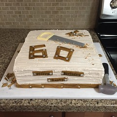 Woodworking 60th Birthday Cake (dms81) Tags: cake happybirthday 60th fondant gumpaste saw nails hammer carpenter wood woodworking