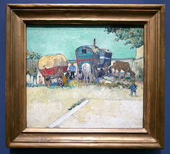 Vincent Van Gogh : Les Roulottes, campement de bohémiens aux environs d´Arles, 1888. (neppanen) Tags: sampen discounterintelligence paris pariisi ranska france museo museum musee art taide kuvataide painting maalaus maalaustaide muséed'orsay d'orsay orsay d´orsay vincent vangogh vincentvangogh