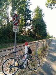 E&N trail Nanaimo (kevin_in_bc) Tags: nanaimo railtrail tracks signs bicycle cycling