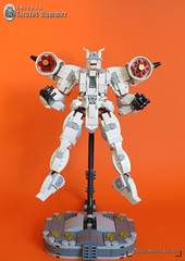 "E.M.I F-0.4-A ""STRATOS HAMMER"" (Loysnuva) Tags: lego mech moc system air aerial earth industries giant cannons mecha robot original white loysnuva bionifigs"