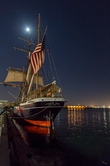 Full Moon over the Star of India (Chuck - PhotosbyMCH (back now)) Tags: photosbymch landscape nightscape fullmoon nightsky night sailingship harbor stars longexposure starofindia sandiego california canon 5dmkiii usa 2016 outdoors